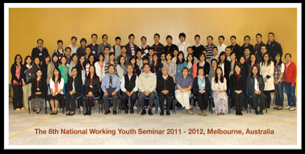 the 9th National working youth seminar 2011-2012, Melbourne, Australia